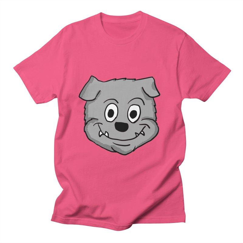 Cartoon Bulldog puppy head Women's Unisex T-Shirt by ericallen's Artist Shop