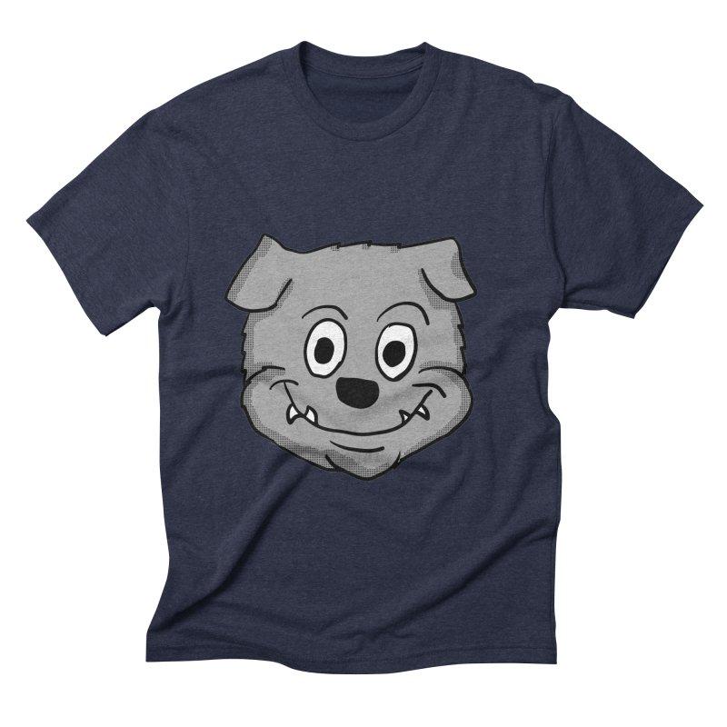 Cartoon Bulldog puppy head Men's Triblend T-Shirt by ericallen's Artist Shop
