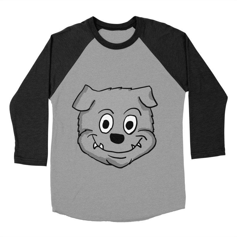 Cartoon Bulldog puppy head Women's Baseball Triblend T-Shirt by ericallen's Artist Shop