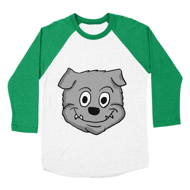 Cartoon Bulldog puppy head Men's Baseball Triblend T-Shirt by ericallen's Artist Shop