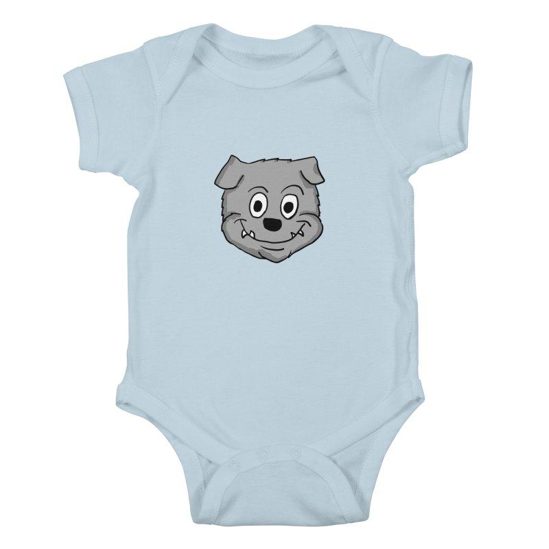 Cartoon Bulldog puppy head Kids Baby Bodysuit by ericallen's Artist Shop
