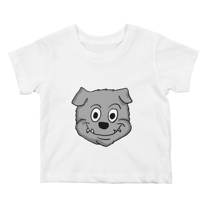Cartoon Bulldog puppy head Kids Baby T-Shirt by ericallen's Artist Shop