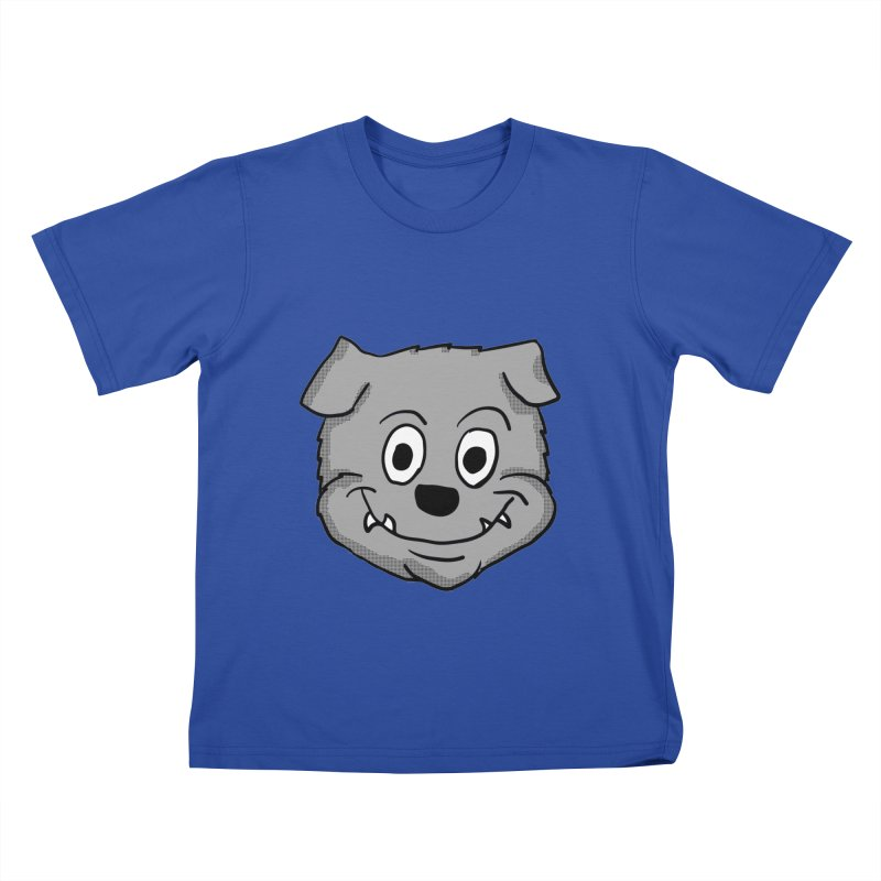 Cartoon Bulldog puppy head Kids T-Shirt by ericallen's Artist Shop