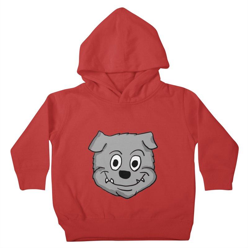 Cartoon Bulldog puppy head Kids Toddler Pullover Hoody by ericallen's Artist Shop