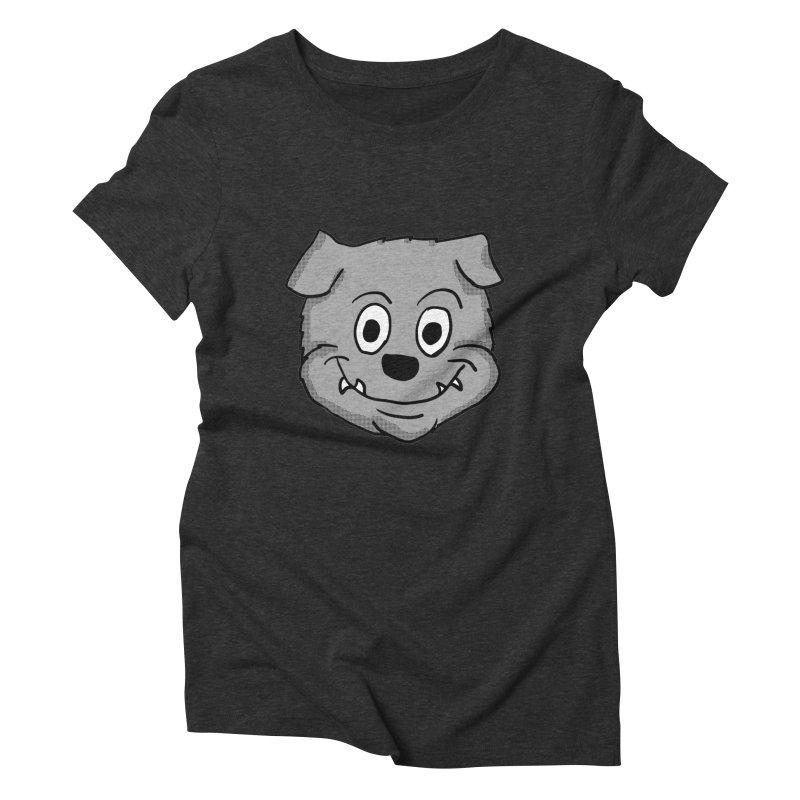 Cartoon Bulldog puppy head Women's Triblend T-Shirt by ericallen's Artist Shop