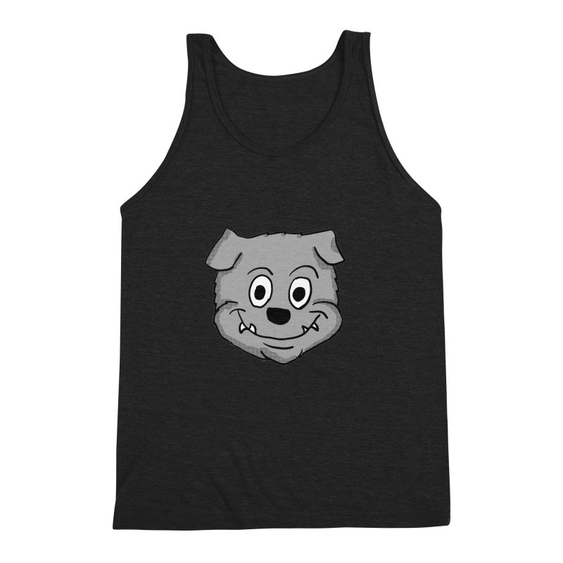Cartoon Bulldog puppy head Men's Triblend Tank by ericallen's Artist Shop