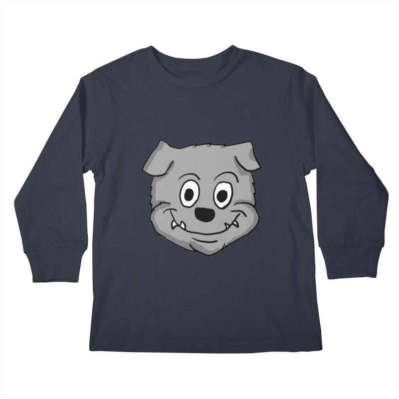 Cartoon Bulldog puppy head Kids Longsleeve T-Shirt by ericallen's Artist Shop