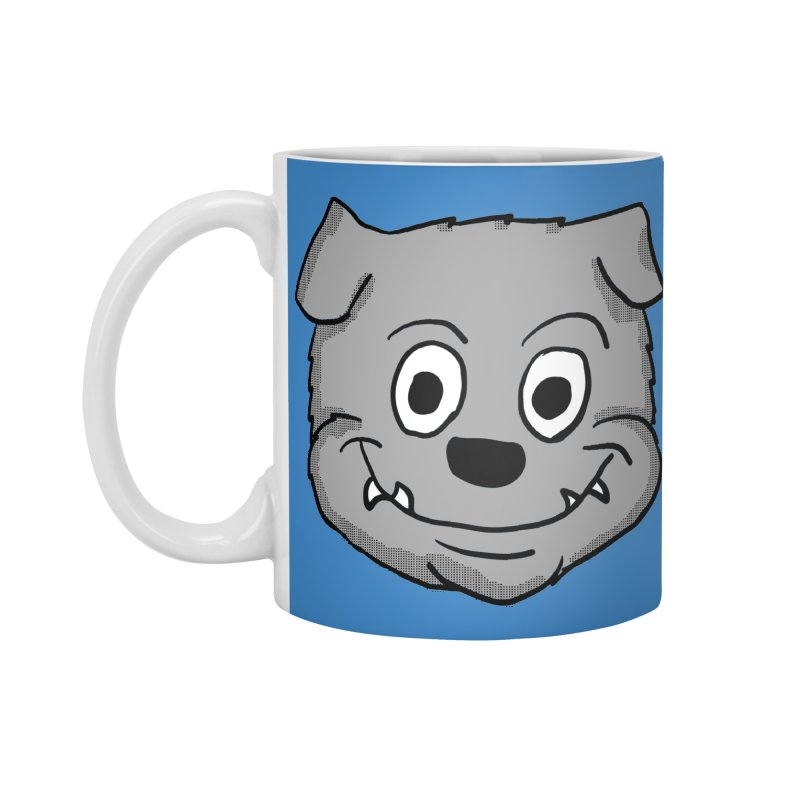 Cartoon Bulldog puppy head Accessories Mug by ericallen's Artist Shop