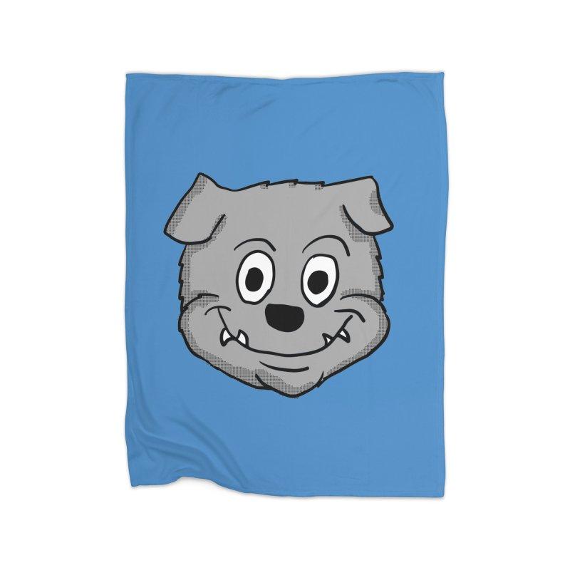 Cartoon Bulldog puppy head Home Blanket by ericallen's Artist Shop