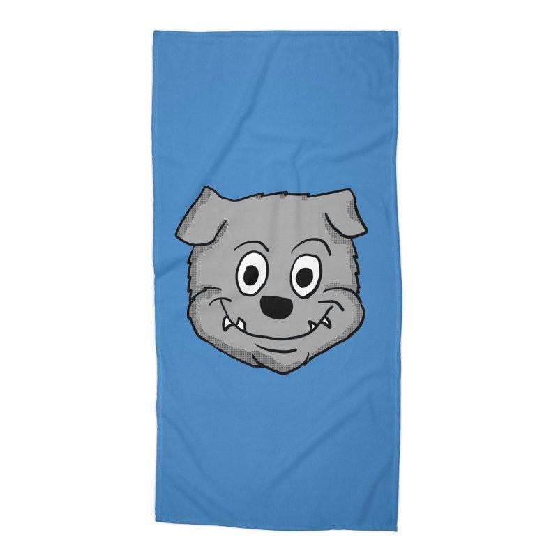Cartoon Bulldog puppy head Accessories Beach Towel by ericallen's Artist Shop