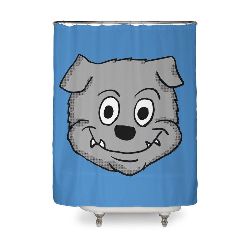 Cartoon Bulldog puppy head Home Shower Curtain by ericallen's Artist Shop