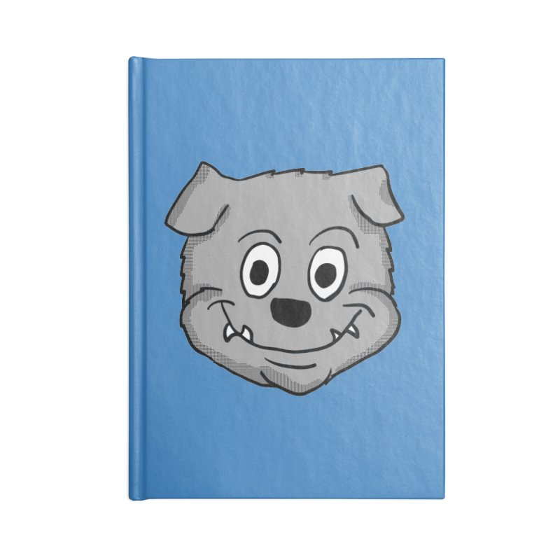 Cartoon Bulldog puppy head Accessories Notebook by ericallen's Artist Shop
