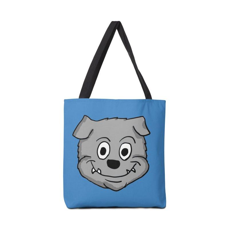 Cartoon Bulldog puppy head Accessories Bag by ericallen's Artist Shop