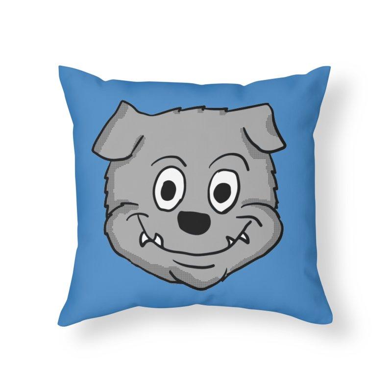 Cartoon Bulldog puppy head Home Throw Pillow by ericallen's Artist Shop