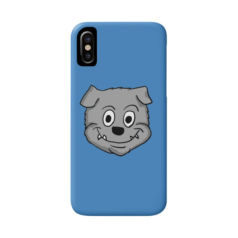 Cartoon Bulldog puppy head Accessories Phone Case by ericallen's Artist Shop
