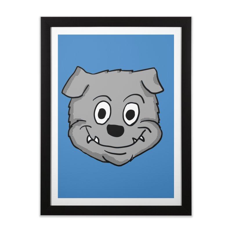 Cartoon Bulldog puppy head Home Framed Fine Art Print by ericallen's Artist Shop