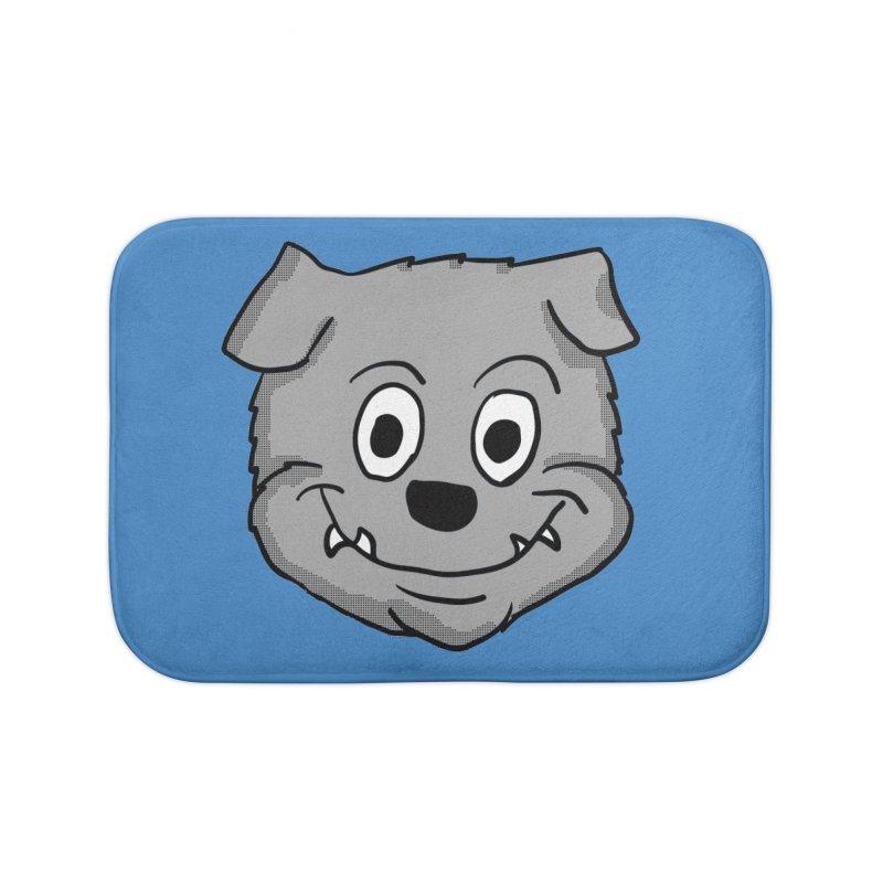 Cartoon Bulldog puppy head Home Bath Mat by ericallen's Artist Shop