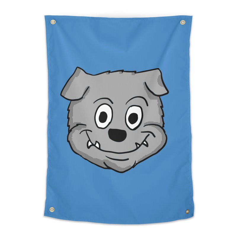 Cartoon Bulldog puppy head Home Tapestry by ericallen's Artist Shop