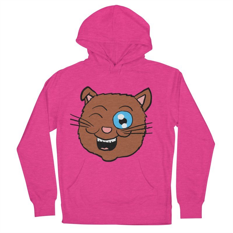 Winking Cat Head Women's Pullover Hoody by ericallen's Artist Shop