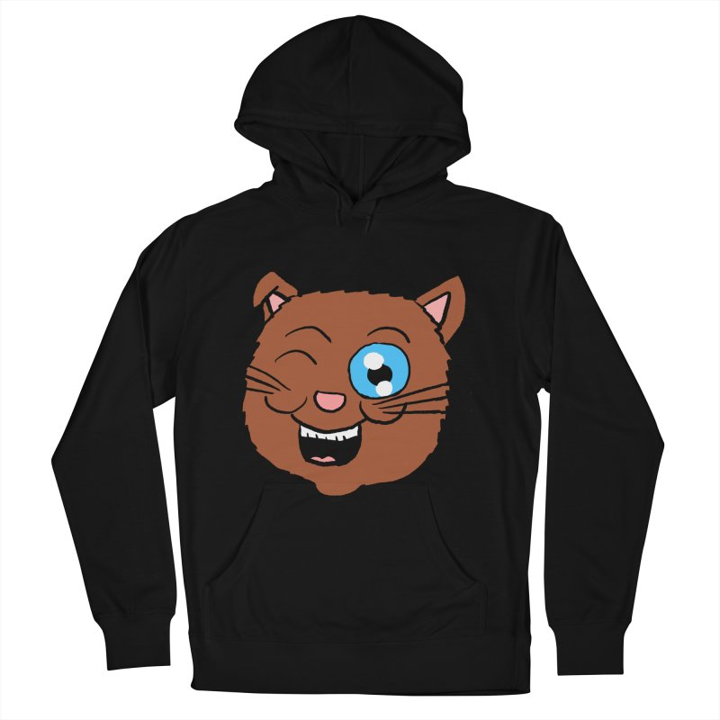 Winking Cat Head Men's Pullover Hoody by ericallen's Artist Shop