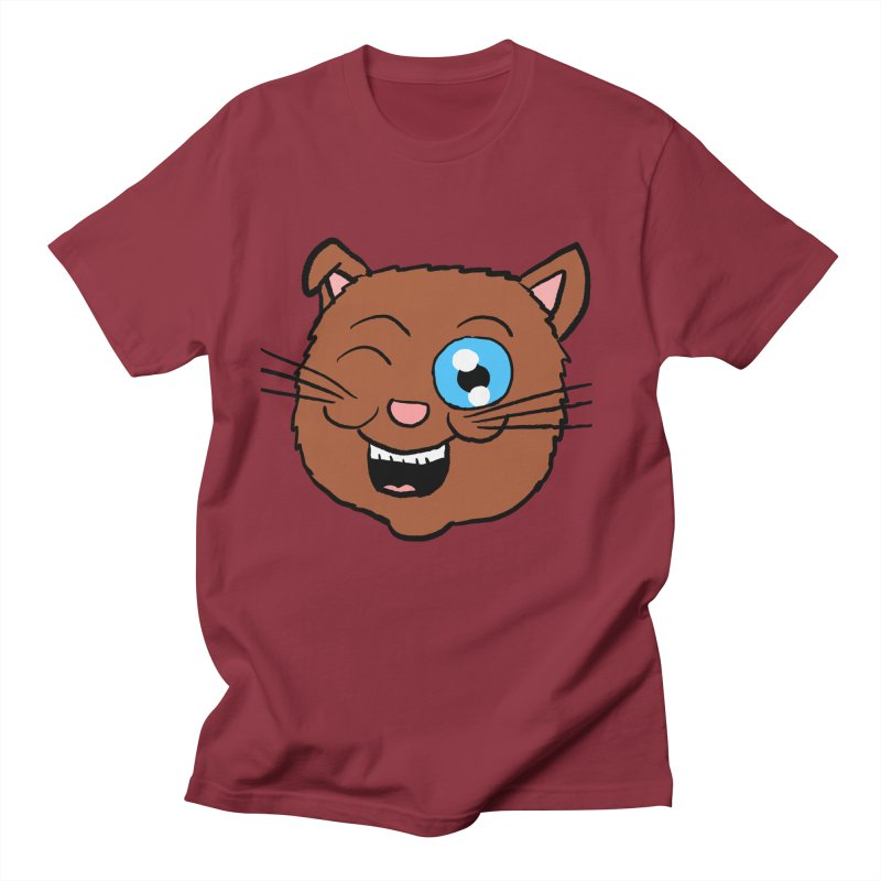 Winking Cat Head Women's Unisex T-Shirt by ericallen's Artist Shop