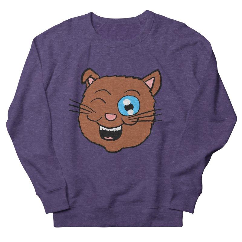 Winking Cat Head Men's Sweatshirt by ericallen's Artist Shop