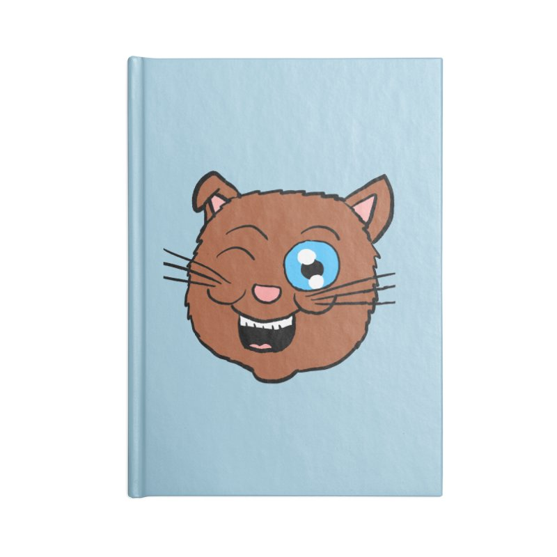 Winking Cat Head Accessories Notebook by ericallen's Artist Shop