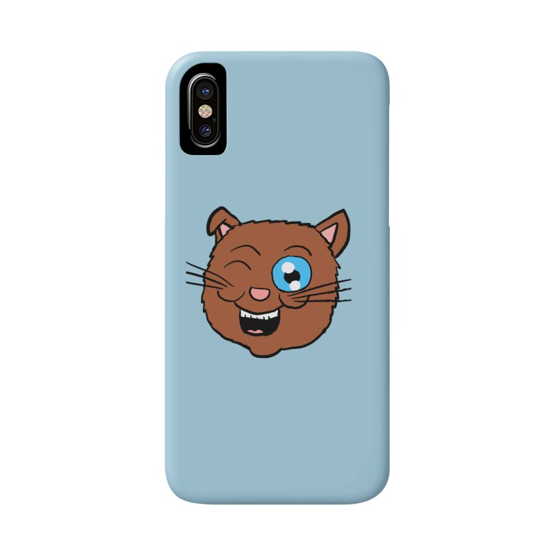 Winking Cat Head Accessories Phone Case by ericallen's Artist Shop