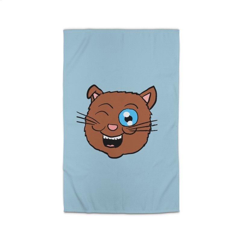 Winking Cat Head Home Rug by ericallen's Artist Shop