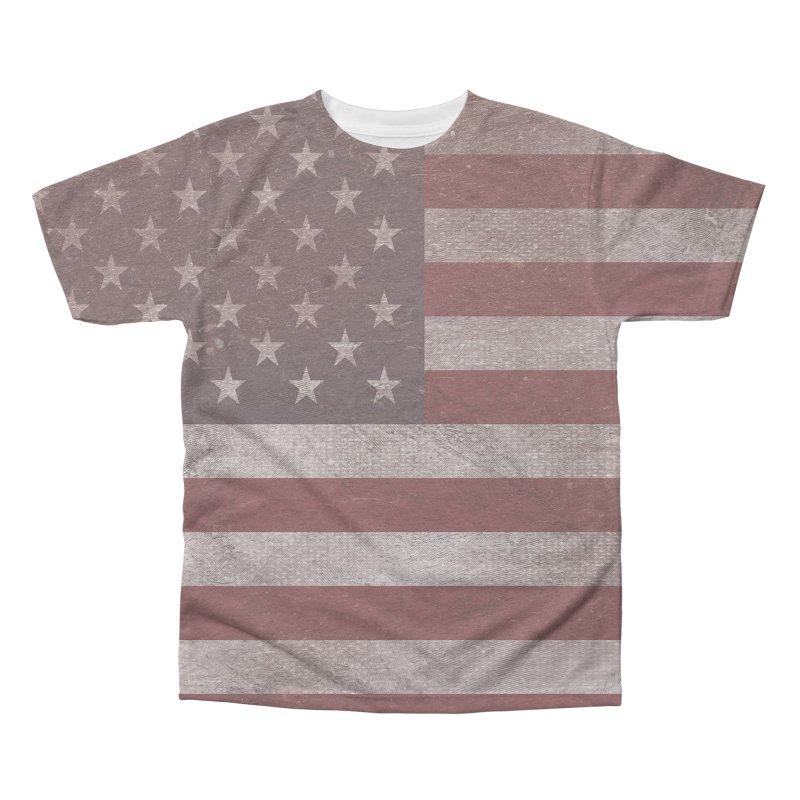 Vintage American flag Men's Triblend All Over Print by ericallen's Artist Shop