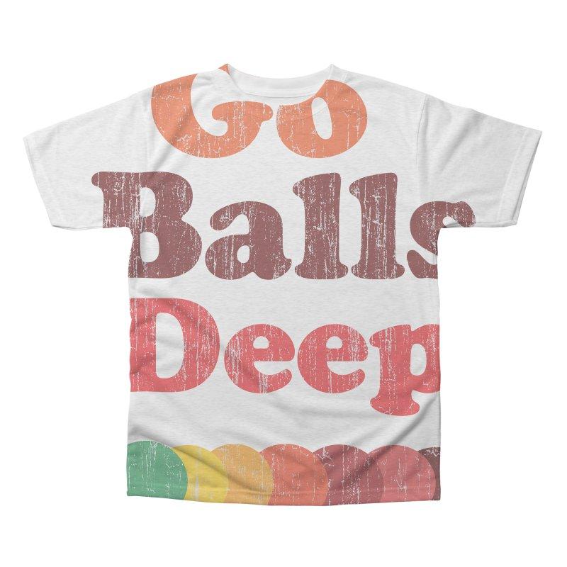 Vintage Go Balls Deep Men's Triblend All Over Print by ericallen's Artist Shop