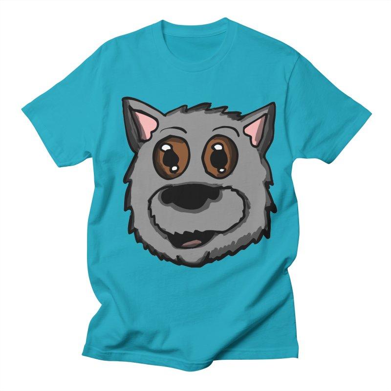 Scottish Dog Head in Men's T-Shirt Cyan by ericallen's Artist Shop