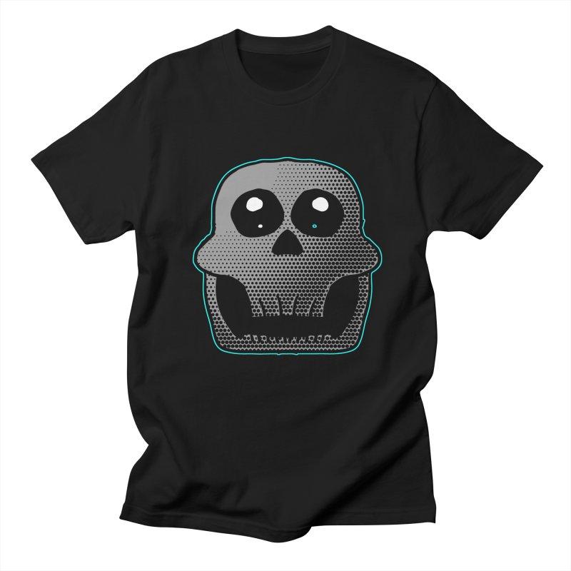 Cartoon Skull in Men's T-Shirt Black by ericallen's Artist Shop