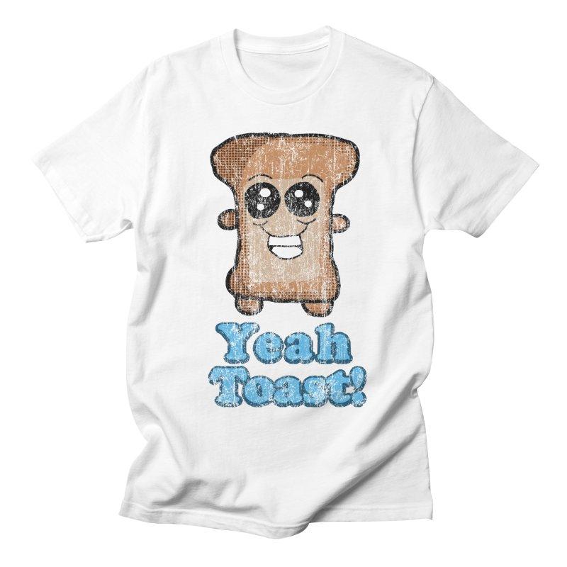 Vintage Yeah Toast! in Men's T-Shirt White by ericallen's Artist Shop