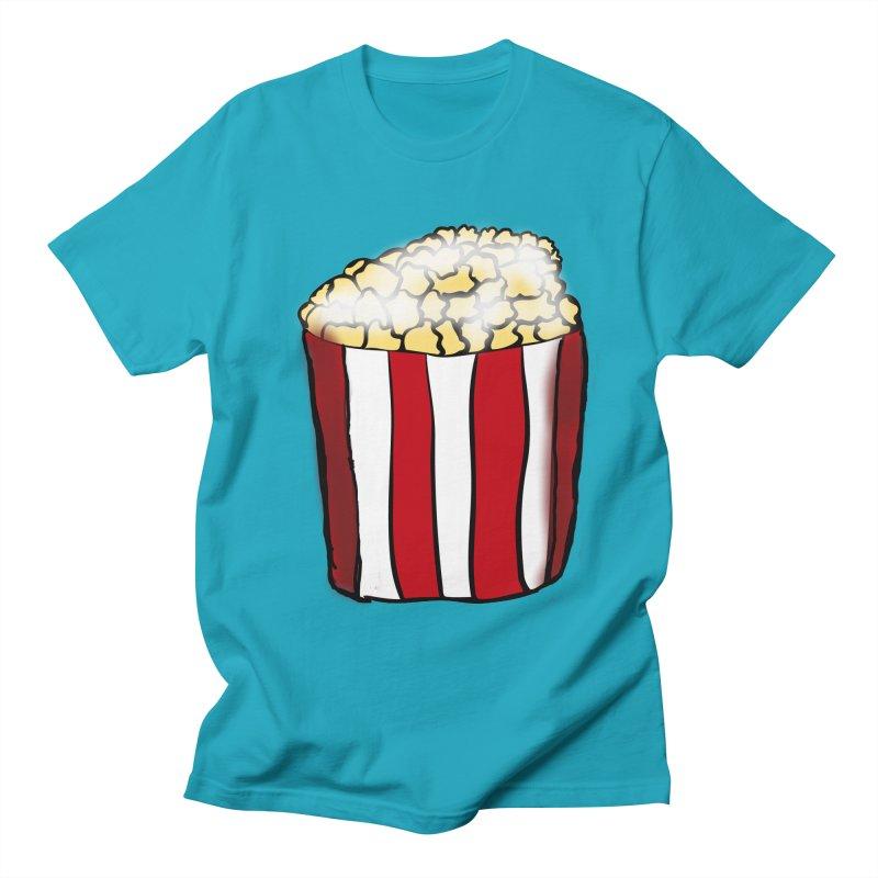 Bag of Popcorn in Men's T-Shirt Cyan by ericallen's Artist Shop