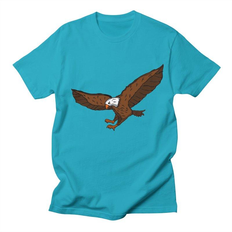 Soaring eagle in Men's T-Shirt Cyan by ericallen's Artist Shop
