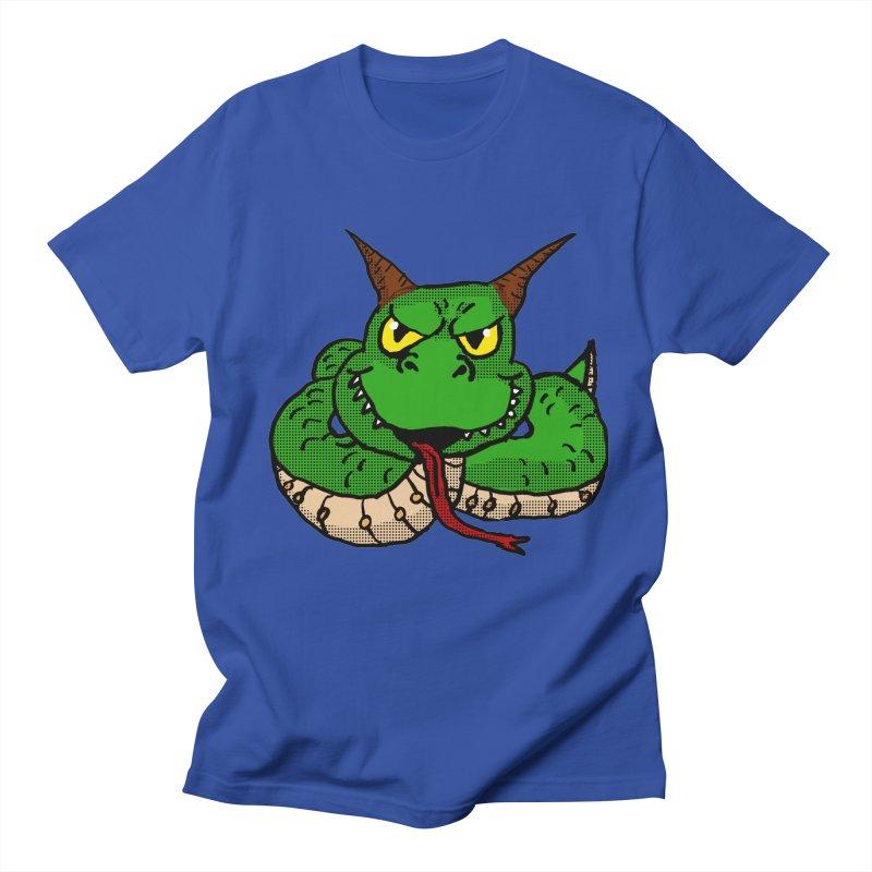 Demon Snake in Men's T-Shirt Royal Blue by ericallen's Artist Shop
