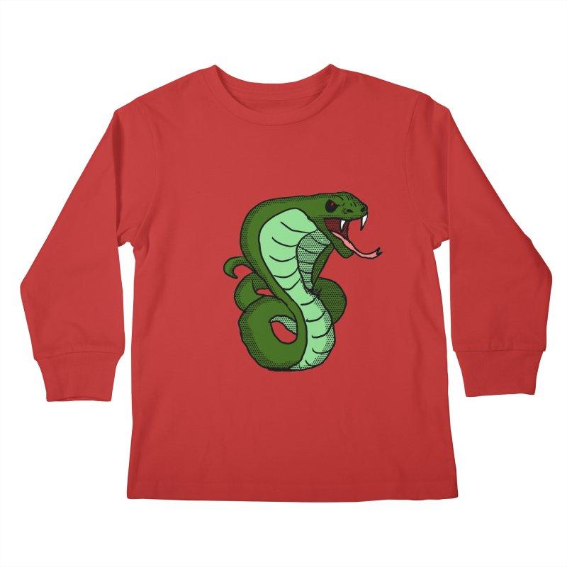 Cartoon Cobra Kids Longsleeve T-Shirt by ericallen's Artist Shop