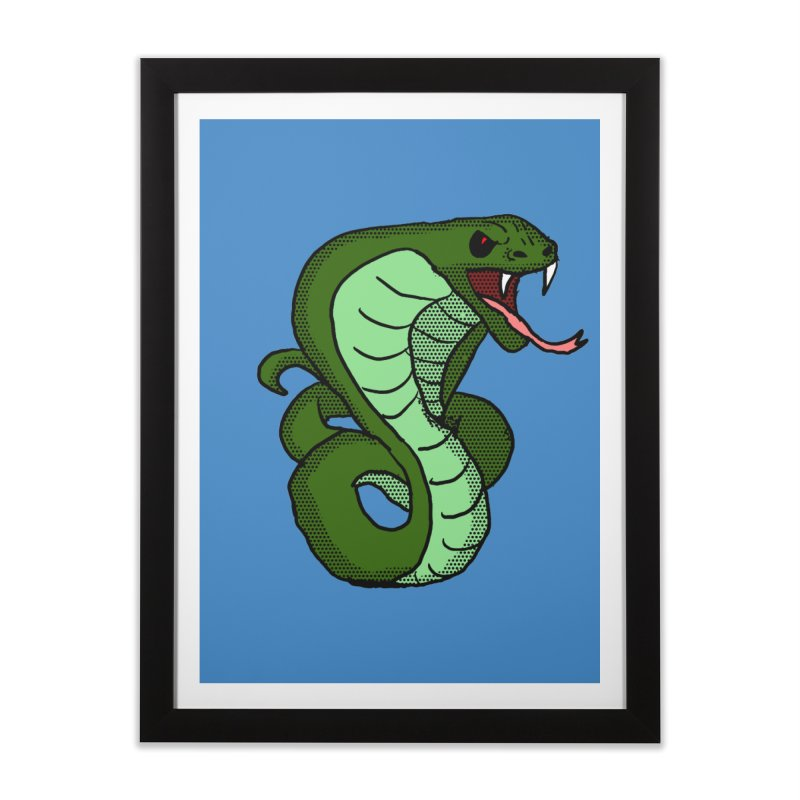 Cartoon Cobra Home Framed Fine Art Print by ericallen's Artist Shop
