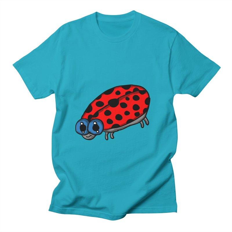 Cute Ladybug in Men's T-Shirt Cyan by ericallen's Artist Shop
