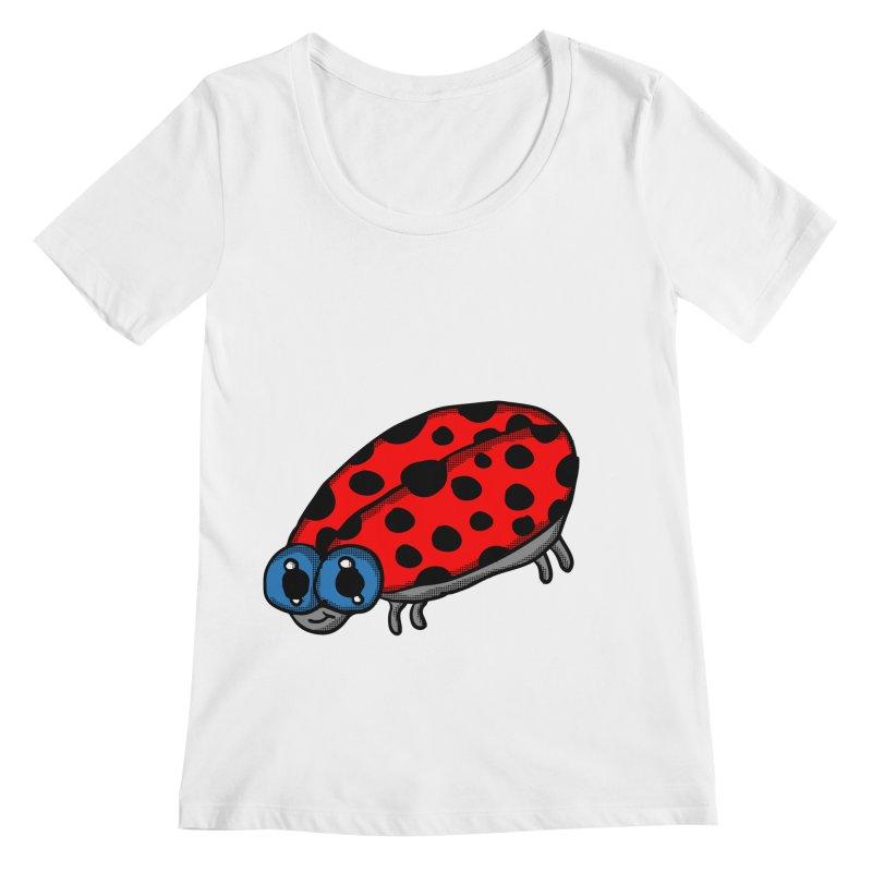 Cute Ladybug Women's Scoopneck by ericallen's Artist Shop