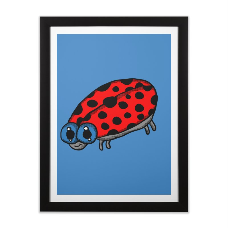 Cute Ladybug Home Framed Fine Art Print by ericallen's Artist Shop