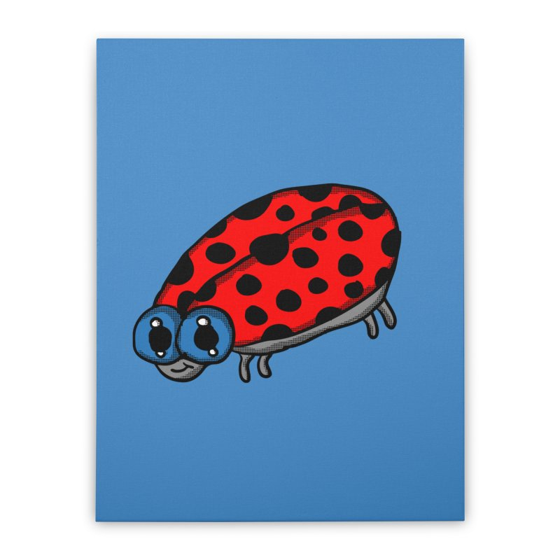 Cute Ladybug Home Stretched Canvas by ericallen's Artist Shop