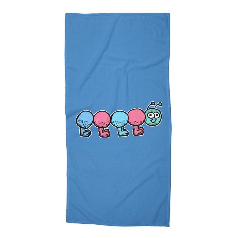 Cute colorful caterpillar Accessories Beach Towel by ericallen's Artist Shop