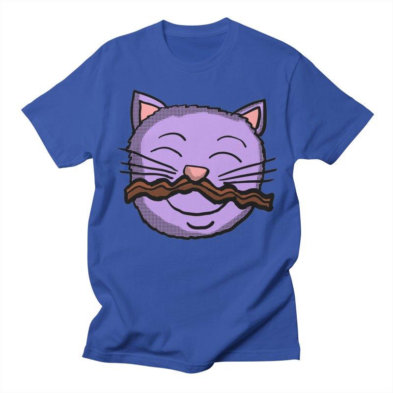Bacon Moustache cat in Men's T-Shirt Royal Blue by ericallen's Artist Shop
