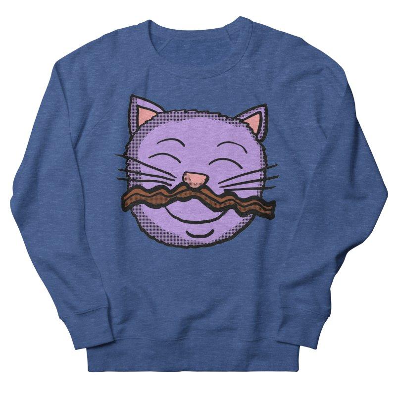 Bacon Moustache cat Men's Sweatshirt by ericallen's Artist Shop