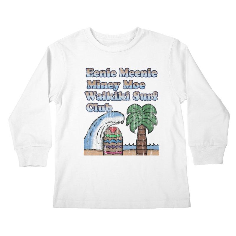 Vintage Eenie Meenie Miney Moe Waikiki Surf Club Kids Longsleeve T-Shirt by ericallen's Artist Shop