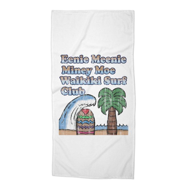 Vintage Eenie Meenie Miney Moe Waikiki Surf Club Accessories Beach Towel by ericallen's Artist Shop