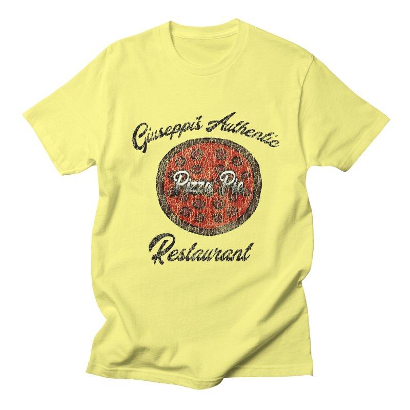 Vintage Giuseppi's Authentic Pizza Pie Restaurant in Men's T-Shirt Lemon by ericallen's Artist Shop