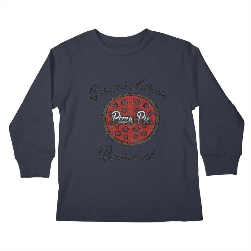 Vintage Giuseppi's Authentic Pizza Pie Restaurant Kids Longsleeve T-Shirt by ericallen's Artist Shop